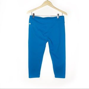 Fabletics Light Blue Cropped Capri Leggings | L